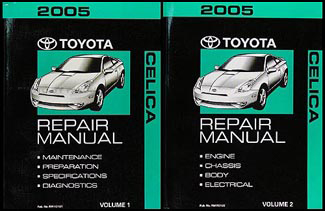 2005 Toyota Celica Repair Manual 2 volume Set Original