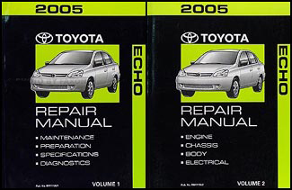 2005 Toyota Echo Repair Manual Set Original