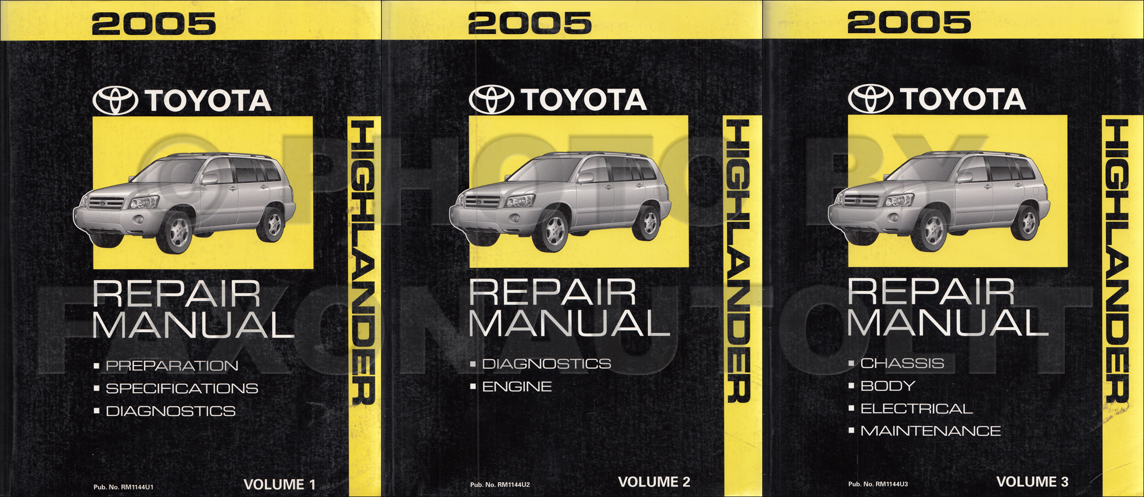 2005 Toyota Highlander Wiring Diagram Manual Original 2004 Related Products
