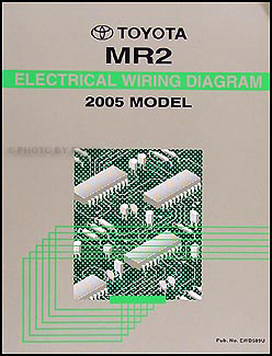 2005 Toyota MR2 Wiring Diagram Manual Original