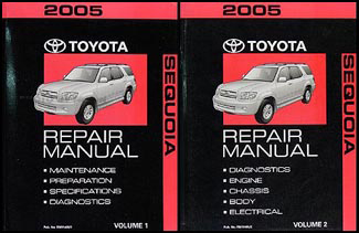 2005 Toyota Sequoia Repair Manual Original Set