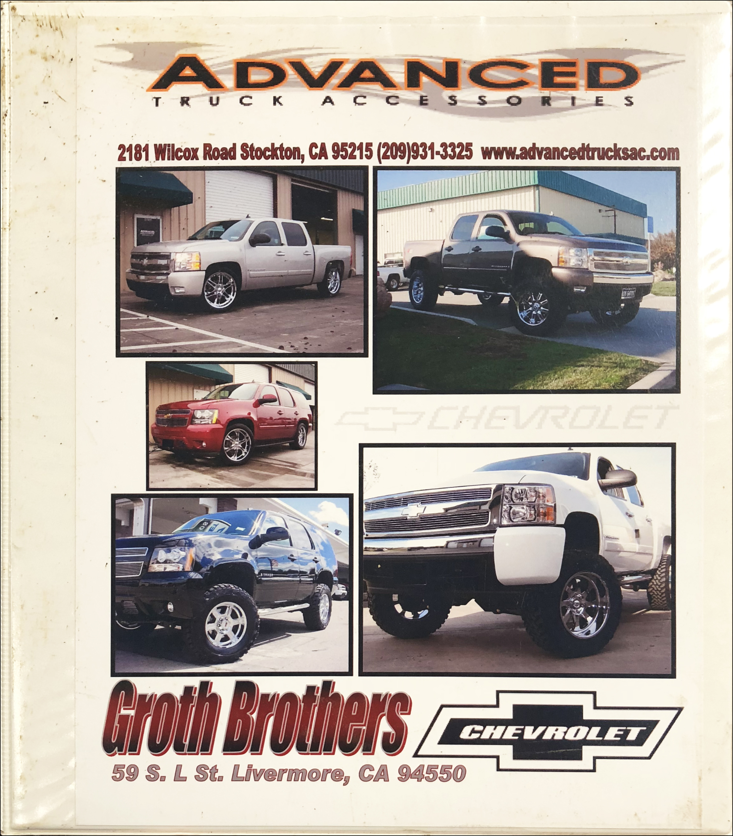 2006-2007 Chevrolet Truck Aftermarket Accessories Dealer Album Original