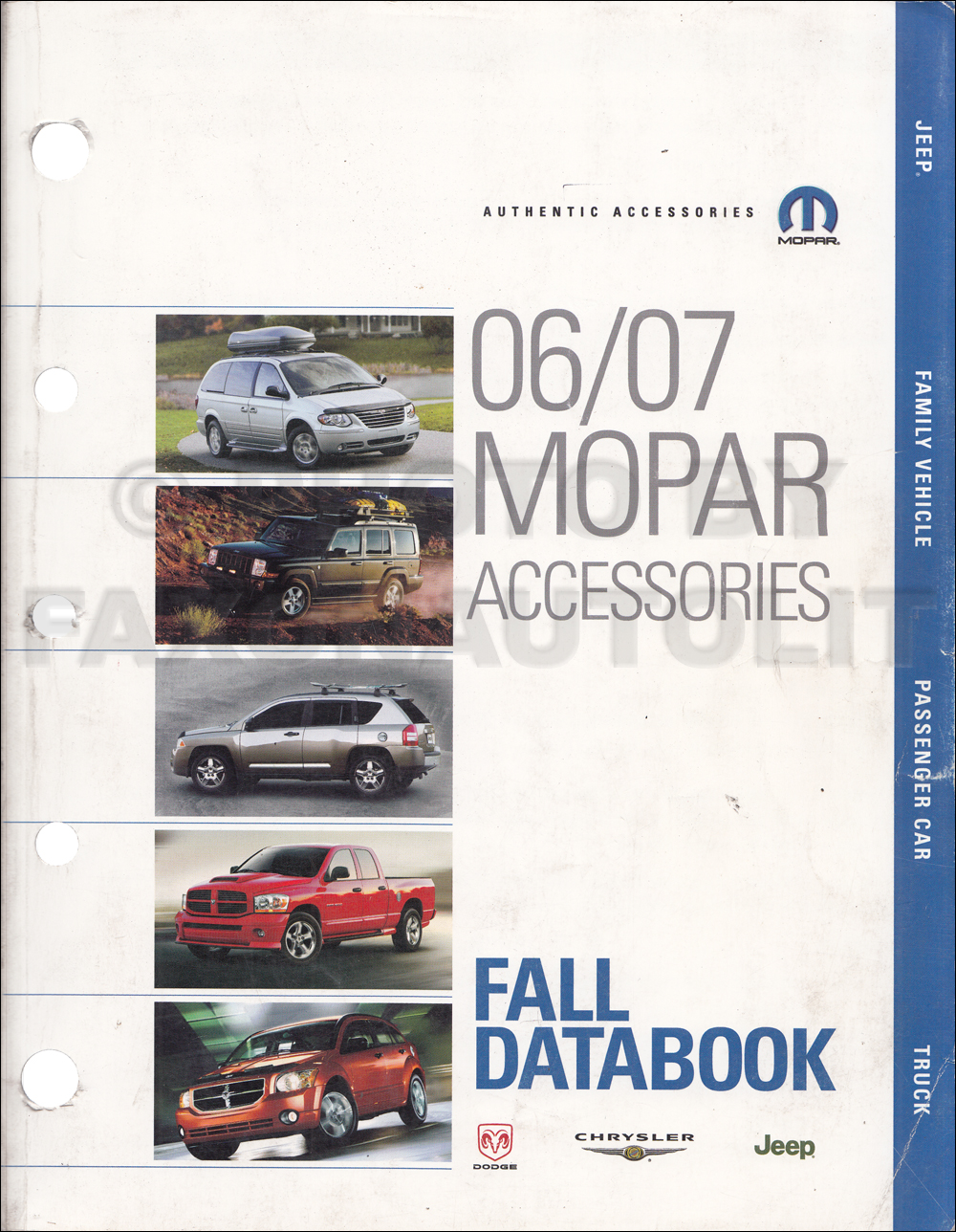 2006-2007 MoPar Accessories Fall Databook Original