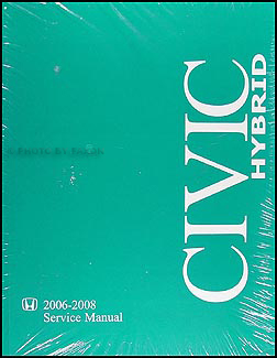 2006-2008 Honda Civic Hybrid Repair Manual Original