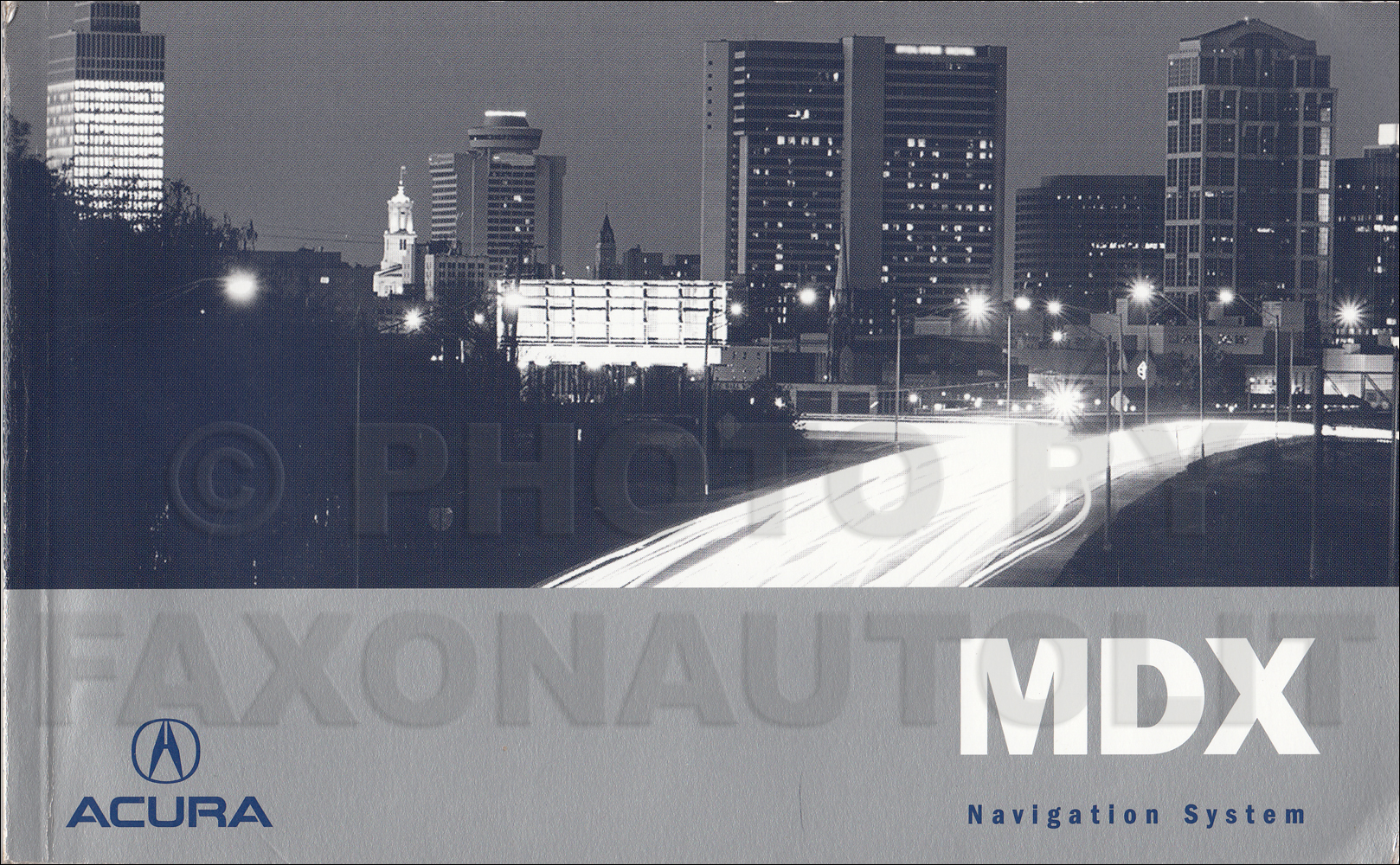 2006 Acura MDX Navigation System Owners Manual Original