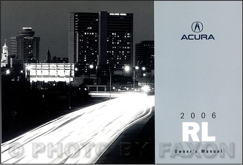 2006 Acura RL Owner's Manual Original