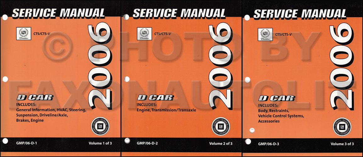 2008 GM D- Car Repair Manual 4 Volume Set Original