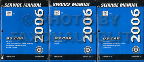 2005 Cadillac STS Original Repair Manual 3 Volume Set