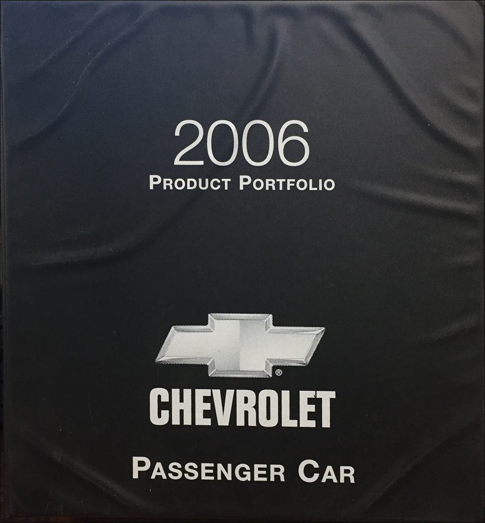 2006 Chevrolet Car Color & Upholstery Dealer Album/Data Book Original