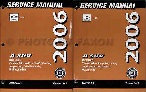 2005 Chevrolet SSR Repair Manual Original 2 volume set