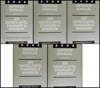 2006 SRT-8, 300, Charger, & Magnum Repair Manual 5 Vol Set Original