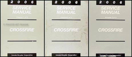 2006 Chrysler Crossfire Repair Manual Set Original