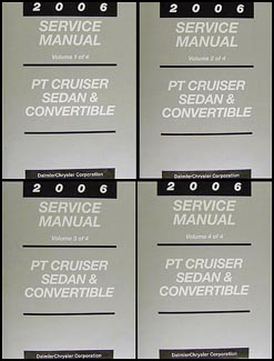 2006 Chrysler PT Cruiser Shop Manual Original 4 Volume Set