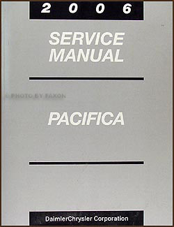 2006 Chrysler Pacifica Shop Manual Original
