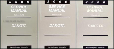 2006 Dodge Dakota Repair Manual 3 Vol Set Original