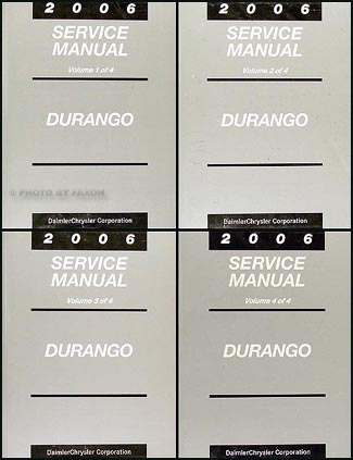 2006 Dodge Durango Repair Manual Original 4 Volume Set
