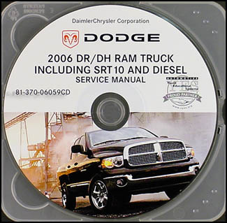 2006 Dodge Ram Truck CD-ROM Repair Shop Manual 1500-3500 SRT 10 Gas & Diesel