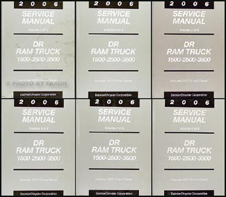 2006 Dodge Ram Truck Repair Manual 6 Volume Set Original