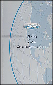 2006 Ford Lincoln Mercury Service Specifications Book Original