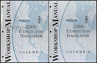 2006 Expedition & Navigator Repair Manual Original 2 Volume Set