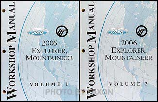 2006 Ford Explorer Mercury Mountaineer Repair Shop Manual Set of 2 Original