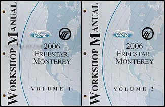 2006 Ford Freestar Mercury Monterey Original Repair Shop Manual 2 Vol. Set