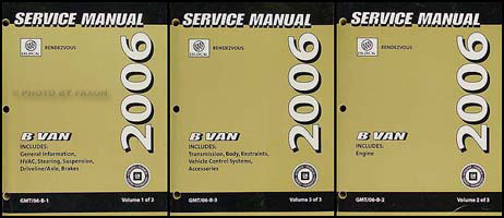 2006 Rendezvous Repair Manual Original 3 Volume Set