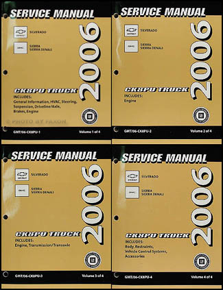 2006 Silverado and Sierra Repair Manual Original 4 Volume Set
