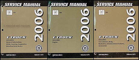 2006 Cadillac SRX Shop Manual Original 3 Volume Set