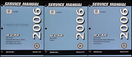 2006 Buick Lucerne Repair Manual Original 3 Volume Set