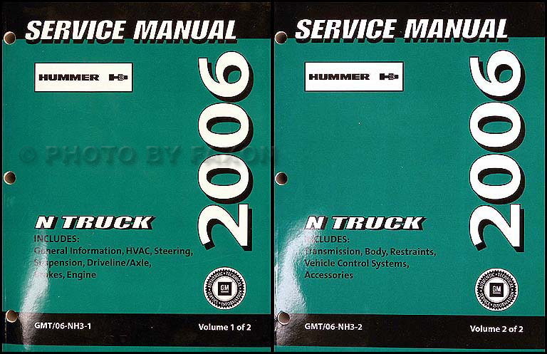 2006 Hummer H3 Repair Manual 2 Volume Set Original