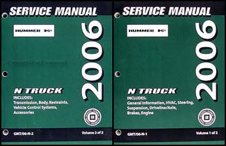 2006 Hummer H2 Repair Shop Manual 2 Volume Set Original