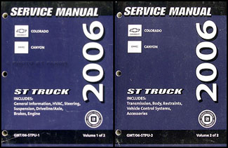 2006 Colorado and Canyon Repair Manual Original 2 Volume Set