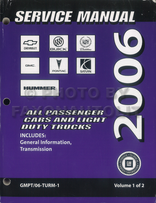 2006 GM Automatic Transmission Overhaul Manual Original