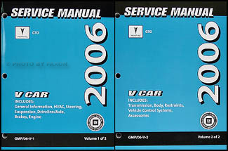 2006 Pontiac GTO Repair Manual Original 2 Volume Set
