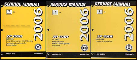 2006 Pontiac G6 Repair Manual 3 Volume Set Original
