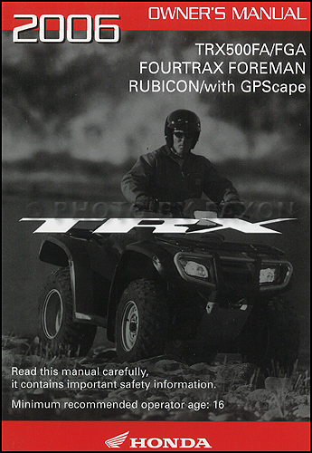 honda rubicon 2001 owners manual