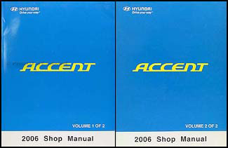 2006 Hyundai Accent Repair Manual 2 Volume Set Original