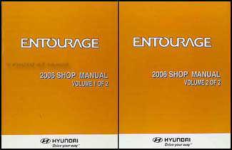 2006 Hyundai Entourage Repair Manual 2 Volume Set Original