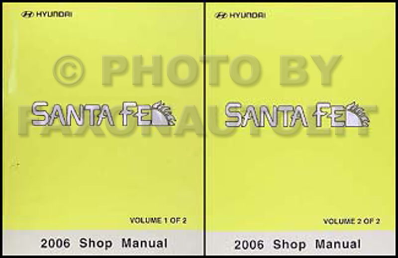 2006 Hyundai Santa Fe Repair Manual Set Original
