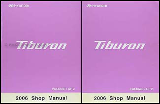 2006 Hyundai Tiburon Shop Manual Set Original