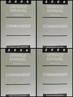 2006 Jeep Commander Shop Manual Original 4 Vol. Set
