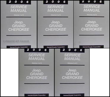 2006 Jeep Grand Cherokee Repair Manual Original 5 Vol. Set