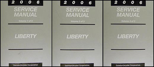 2006 Jeep Liberty Shop Manual Original 3 Vol. Set