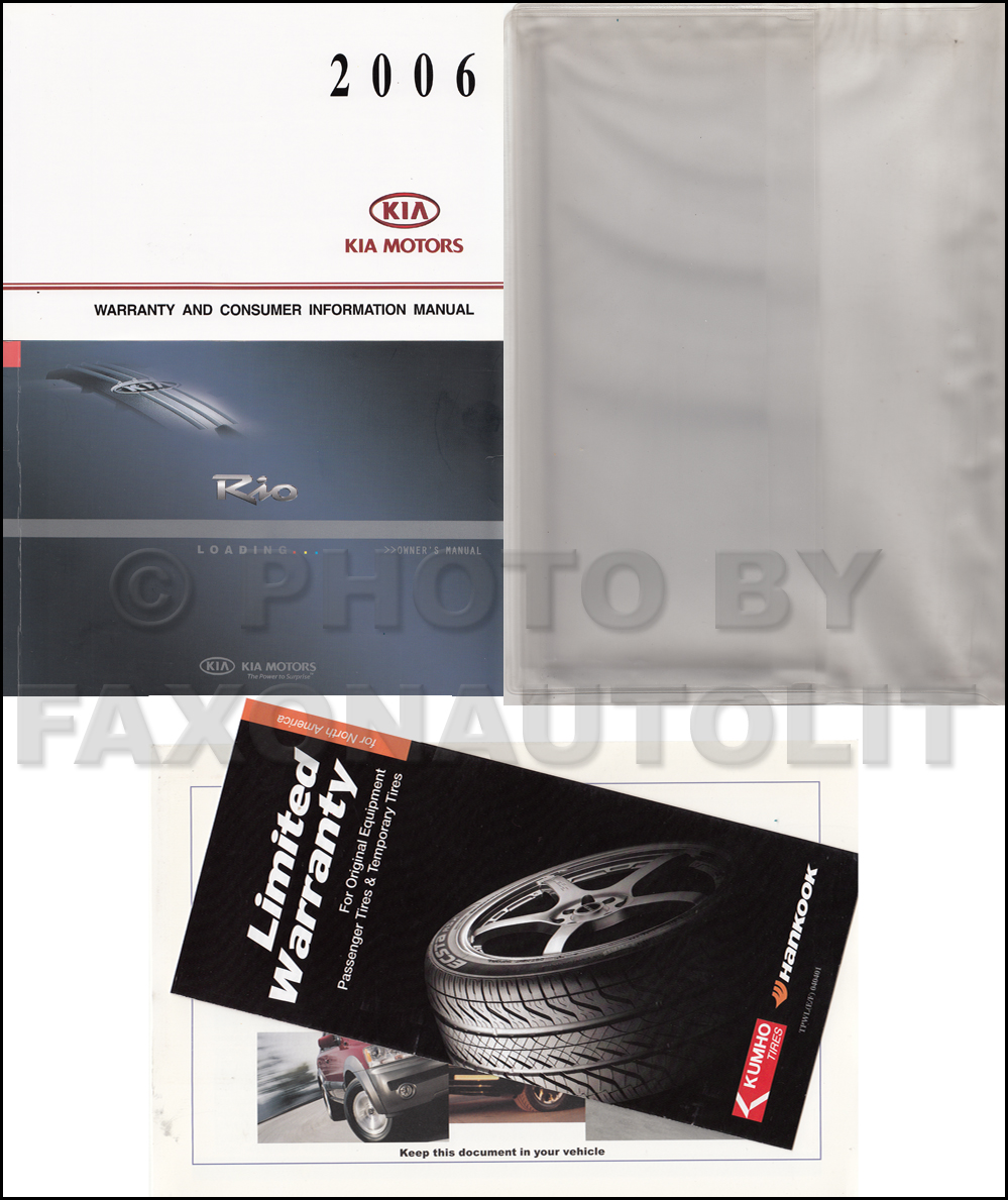 2006 Kia Rio Owners Manual Original