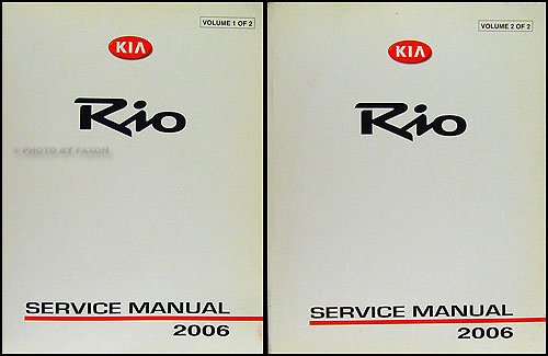 2006 Kia Rio Repair Manual Original 2 Vol. Set