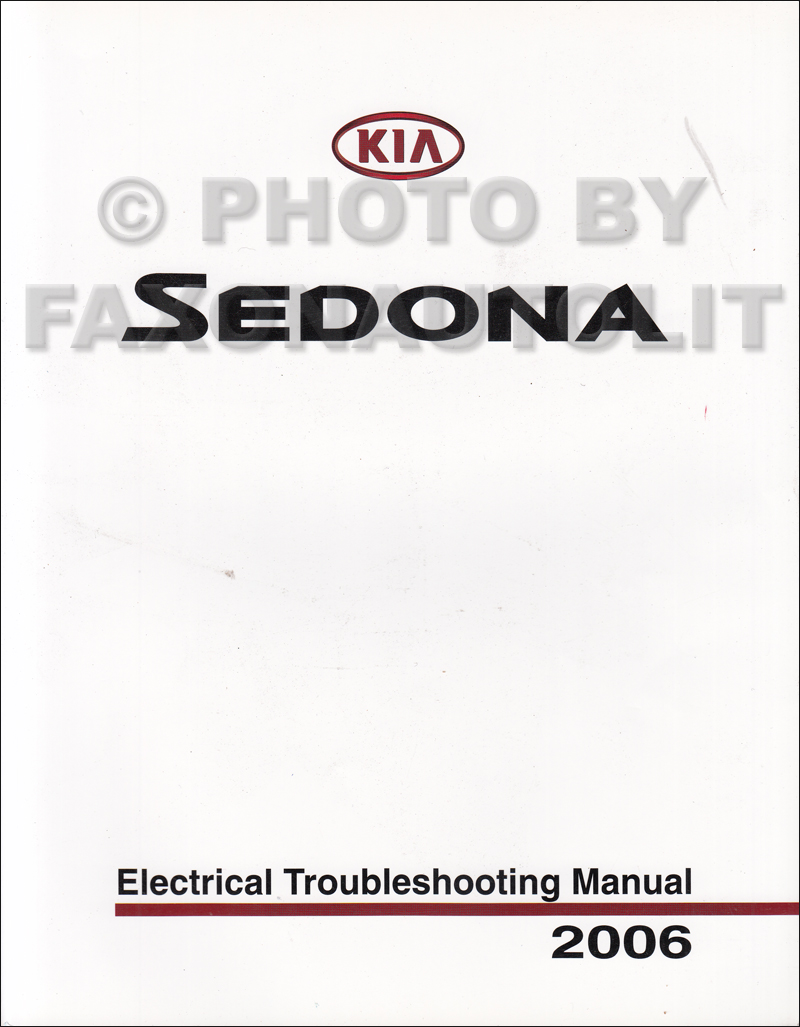 2006 Kia Sedona Electrical Troubleshooting Manual Original