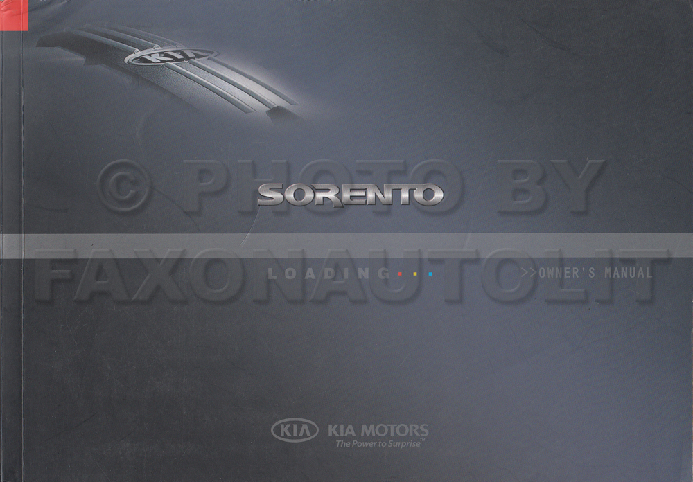 2006 Kia Sorento Owners Manual Original