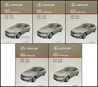 2006 Lexus GS 300/430 Repair Shop Manual Original 5 Volume Set