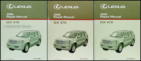 2006 Lexus GX 470 Repair Manual Original 3 Volume Set GX470